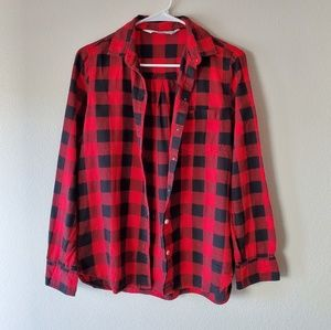 Old Navy | Red and Black Button Down Shirt
